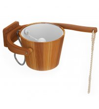 Sawo cold shower bucket, cedar, 18 L