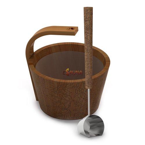 """Sawo sauna set """"More steam"""" premium, colored, cedar 4,0 L"""