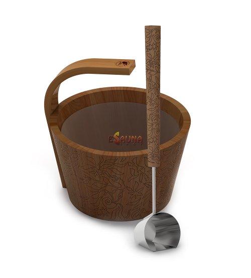 """Set sauna Sawo """"More steam"""" premium, colorato, cedro 4,0 L"""