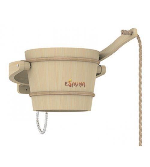 Cubo de ducha fría Sawo, pino, 18 L