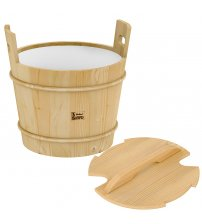 Sawo wooden bucket with lid, pine, 18 L