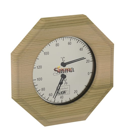 Sawo thermo-hygrometer 241-THD, octagonal, cedar