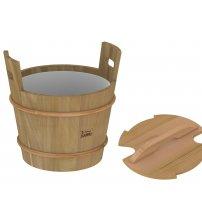 Sawo wooden bucket with lid, cedar, 18 L