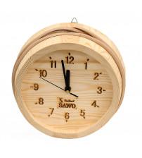 Horloge en bois Sawo