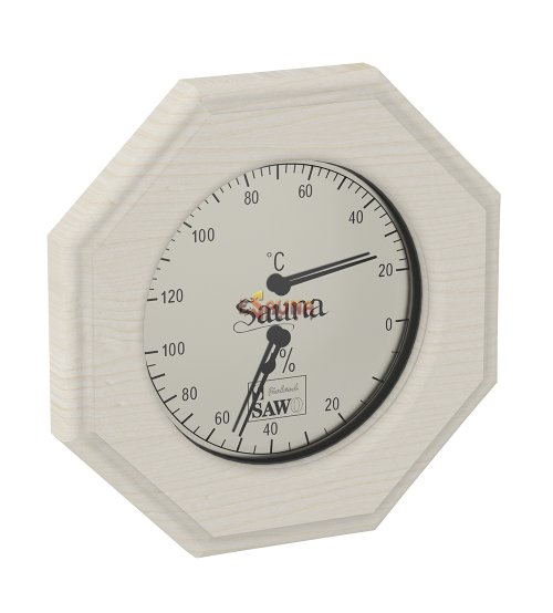 Sawo thermo-hygrometer 241-THD, octagonal, aspen