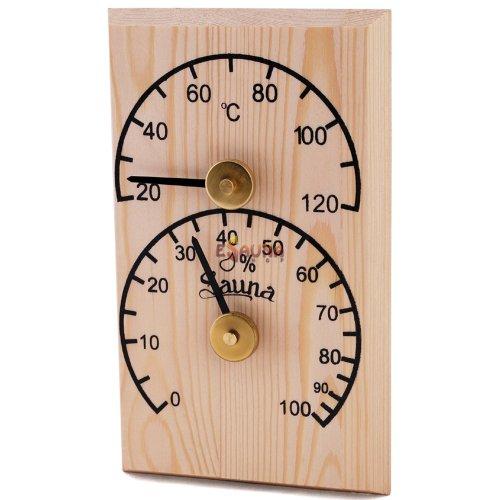 Sawo vertical thermo-hygrometer 106-THB, pine