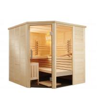 Rohová infračervená saunová kabína Sentiotec Alaska Corner Infra+