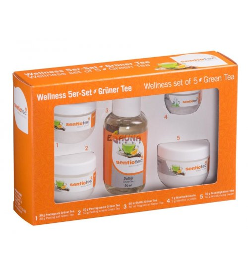 Wellness 5-er Set Grüner Tee