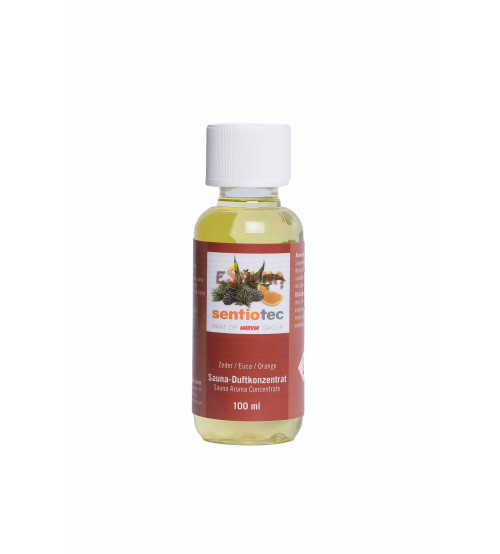 Sentiotec Sauna aromaconcentraat, ceders, eucalyptus, sinaasappels