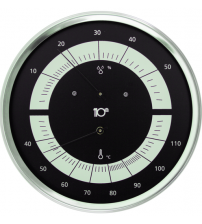 Okrągły termohigrometr Sentiotec, czarny