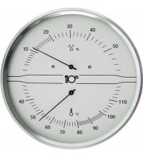 Sentiotec Thermo-Hygrometer rond, wit