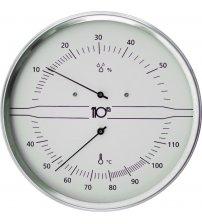 Okrągły termohigrometr Sentiotec, biały