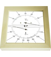 Sentiotec Thermo-Hygrometer vierkant, wit