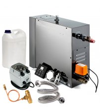 Tvaika ģeneratora SteamTec Ksa Elegenace Standart komplekts, melns