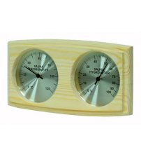Curved box type SAWO  thermo-hygrometer
