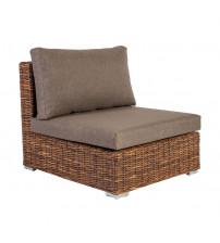 Modulares Sofa mit plissierter Matratze