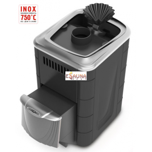 Malkinė pirties krosnelė - TMF Geyzer Mini 2016 Inox SSDG CSB anthracite, 35101