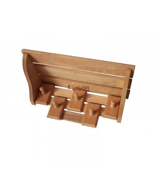 Combined shelf, 5 hooks
