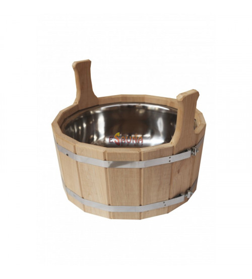 Bucket with stainless steel insert, 12 l