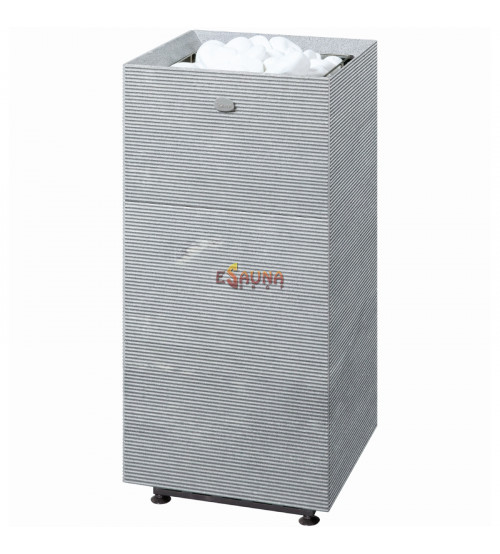 Calentador de sauna eléctrico Tulikivi Tuisku Rigata con panel de control