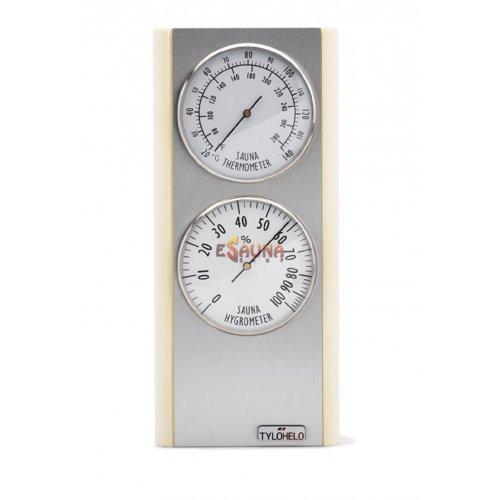 Tylö Premium blonde thermometer/hygrometer