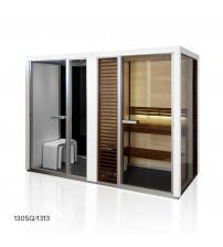 Cabina de sauna Tylöhelo Impression Twin, blanco
