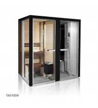 Cabina de sauna Tylöhelo Impression Twin, negro