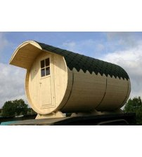 Tunel de clădire de saună