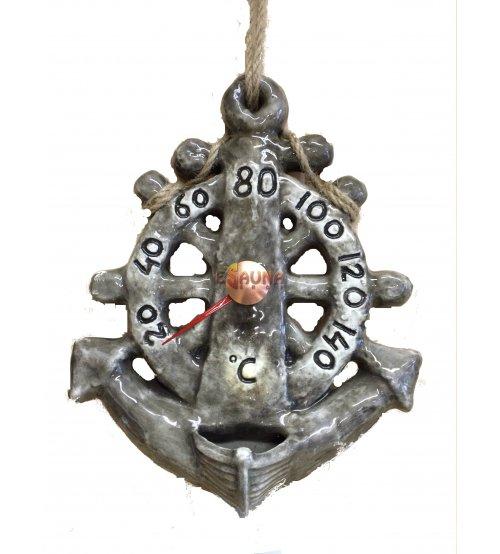 Thermomètre pour sauna - Ancre + Huile Essentielle (10ml)