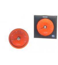 Rento sauna thermometer in orange aluminium