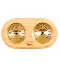 Thermo-hygromètre arrondi du type à boîte Sawo