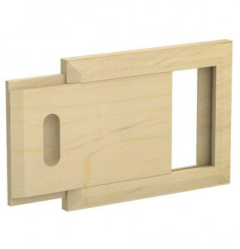 Wooden ventilation grid..