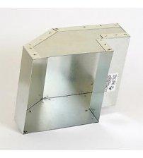 La salida de ventilación, 150x130 mm.