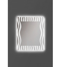 ANDRES ZEBRA spejl med LED belysning