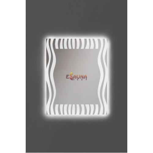 Spiegel ANDRES ZEBRA mit LED-Beleuchtung