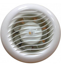 Ventilator voor sauna met ventiel