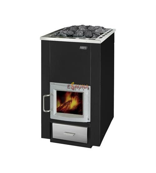 Narvi 30 with glass door, stones included