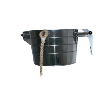 Bucket with holder, 15 ..