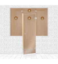 Sklenená stena do sauny, AD TYPE 2