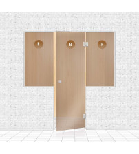 Стеклянная витрина для сауны, AD TYPE 3