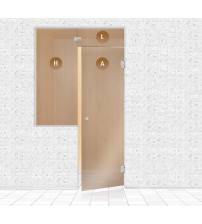 Стъклена стена за сауна, AD TYPE 4
