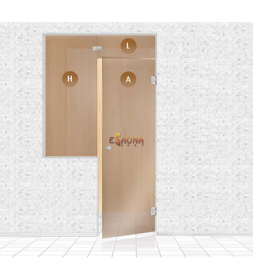 Sauna glass wall, AD TYPE 4