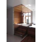 Glass sauna showcases