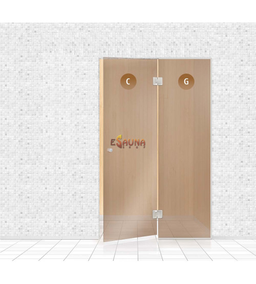 Sauna glass wall, AD TYPE 5