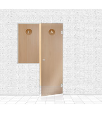 Mur de verre pour sauna, AD TYPE 8