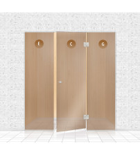 Стеклянная витрина для сауны, AD TYPE 9