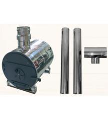 Externer runder Whirlpool-Wassererhitzer und Kamin-Set