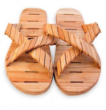 Wooden sandals..
