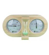 Smėlio laikrodis, termometras, higrometras 3 in 1